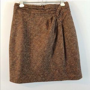 Nanette Lepore Tweed Wool Skirt